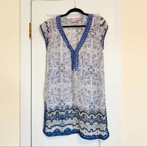 Calypso St. Bart's Beaded Tunic Cover Up Small